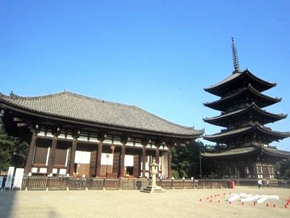 興福寺東金堂と興福寺五重塔