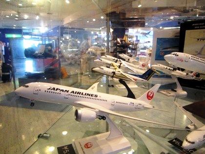関西空港の飛行機模型