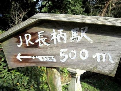 JR長柄駅の案内板