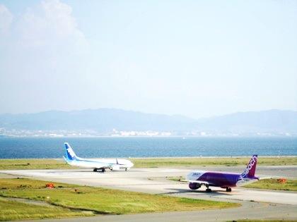 関西空港の飛行機