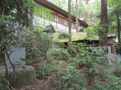 昭和天皇歌碑と衣掛杉