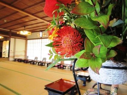会場装花と披露宴会場