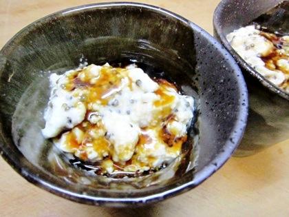 とんぶりと豆腐のデザート
