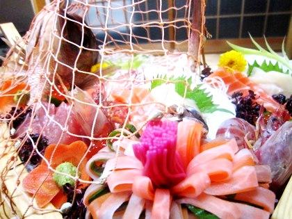鯛の姿造り 忘年会シーズン