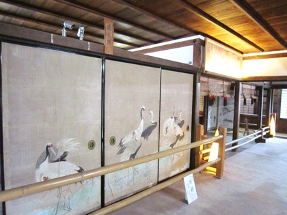 吉水神社書院の襖絵