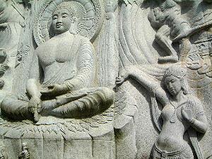 釈迦一代記 仏像レリーフ