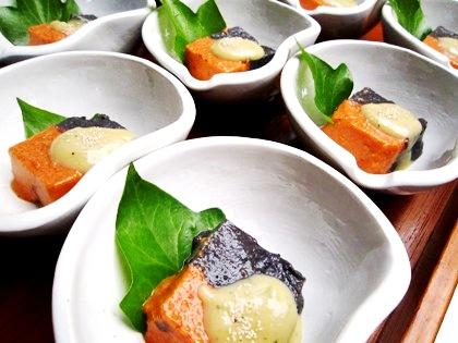 黒胡麻パプリカ豆腐