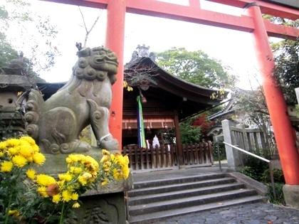 漢國神社の鳥居