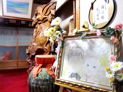 ウェルカムボード 大神神社の結婚披露宴会場