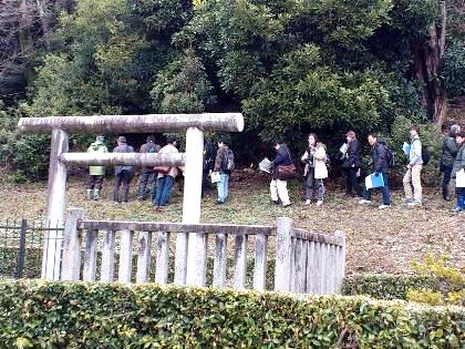 箸墓古墳の立ち入り調査