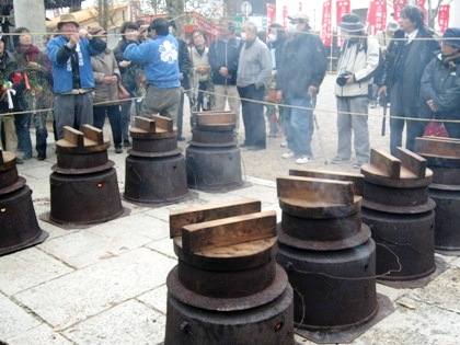 湯立神楽の釜