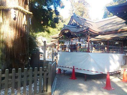 大神神社の節分祭準備