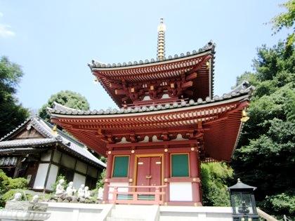 平等寺二重塔と十六羅漢