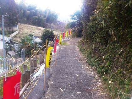 高宮集会所への抜け道