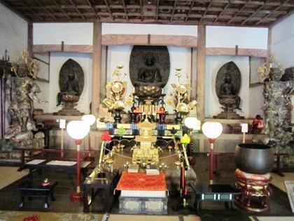 長岳寺の阿弥陀三尊像