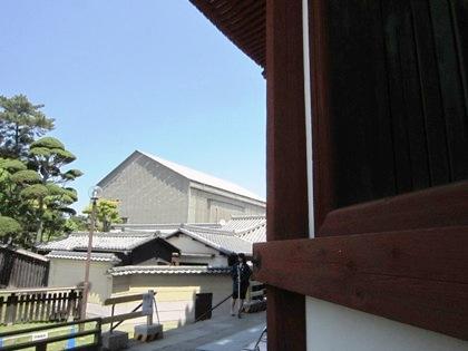 復元工事中の興福寺中金堂