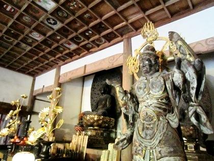 長岳寺の多聞天