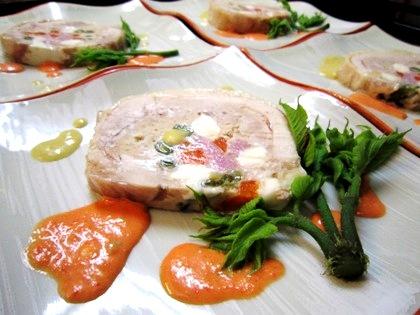 鶏肉とチーズのテリーヌ