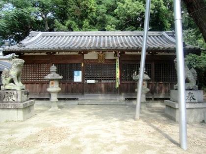 伴堂杵築神社の拝殿