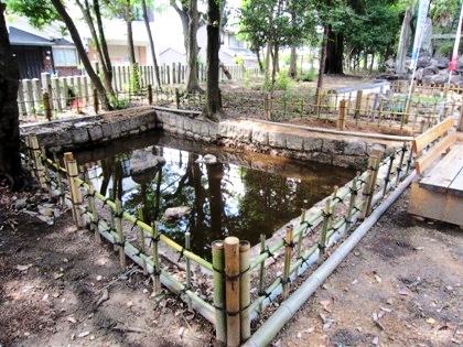 伴堂杵築神社の池