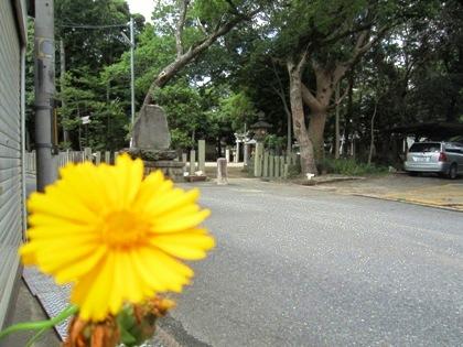 筋違道の伴堂杵築神社
