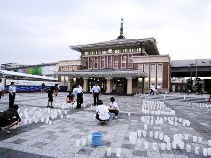 JR奈良駅前の燈花会