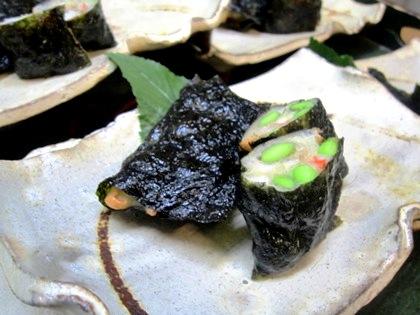 枝豆と海老の磯辺揚げ