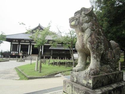 手向山八幡宮の狛犬