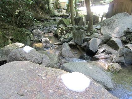 桃尾の滝の盛り塩
