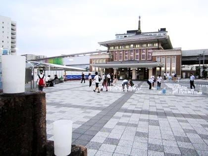 JR奈良駅前のなら燈花会