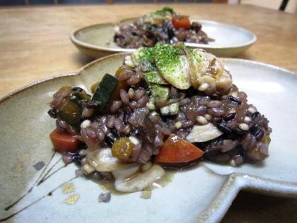 蛤の古代米リゾット