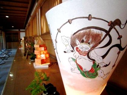 大神神社観月祭の三輪山あかり展