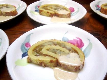 栗と無花果のケーキ