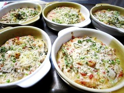 牡蠣とあん肝のグラタン