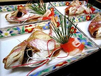 お祝い料理 焼き鯛
