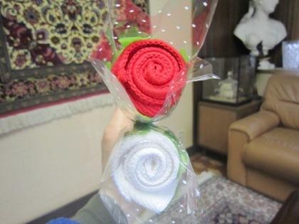 ミニタオル 薔薇のミニタオル