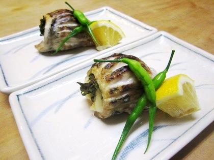 鯵の梅紫蘇焼き 会席料理