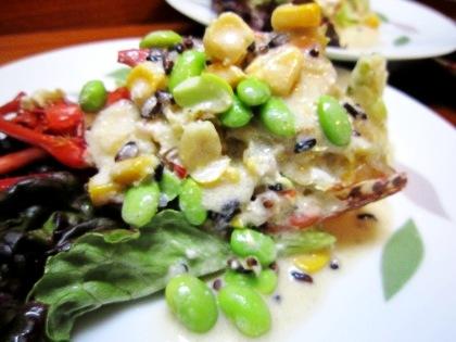 伊勢海老の古代米サラダ