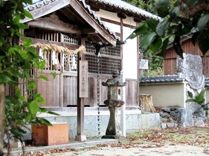 甘樫坐神社 立石