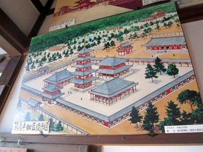 飛鳥寺の伽藍配置図