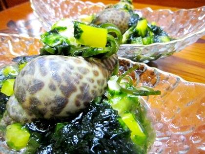 バイ貝の酢の物