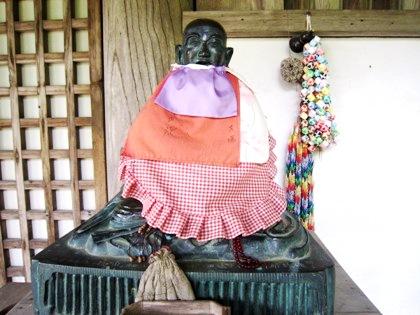 長岳寺の賓頭虜尊者