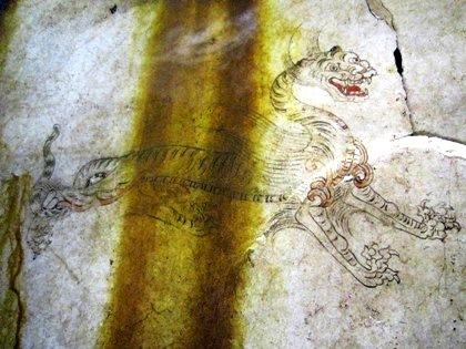 キトラ古墳の白虎 四神 飛鳥資料館