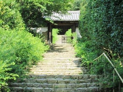白毫寺の石段