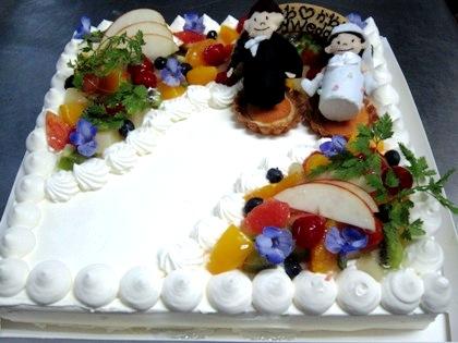 ウェディングケーキ 大神神社の結婚披露宴