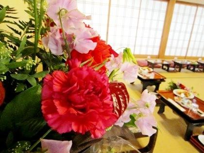 高砂席の花