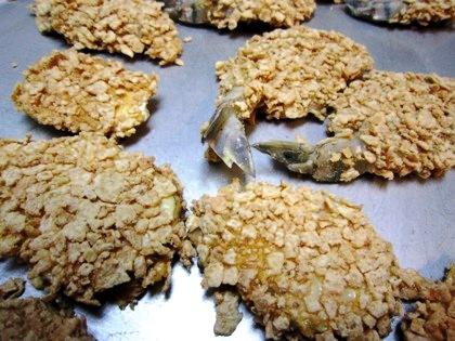 海老の玄米フレークス揚げ