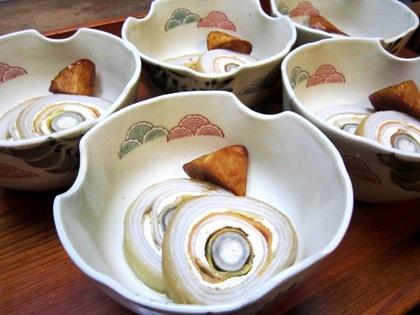 海老芋の砧巻き