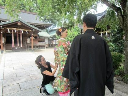 三輪坐恵比須神社の和装前撮り