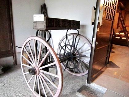消防ホース巻取り車 安堵町歴史民俗資料館